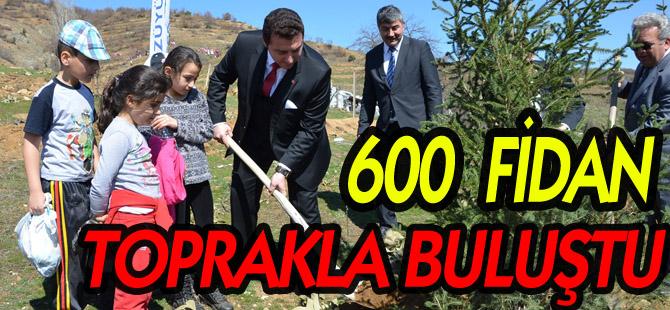BOZÜYÜK'TE ORMAN HAFTASI'NDA 600 FİDAN TOPRAKLA BULUŞTU