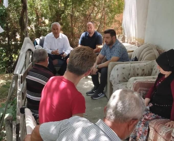 Başkan Yaman'dan acılı aileye taziye ziyareti