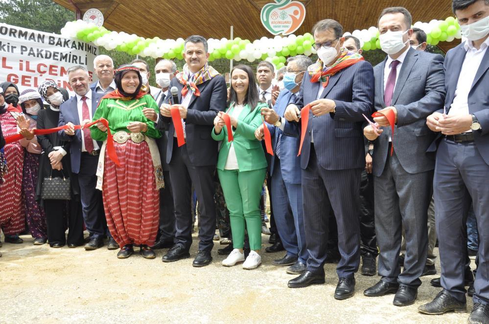 Bakan Dönmez ve Bakan Pakdemirli, Küçükelmalı Tabiat Parkı'nın açılışına katıldı