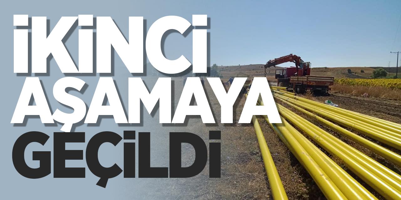 Dodurga'da doğalgaz çalışmalarında ikinci aşamaya geçildi!