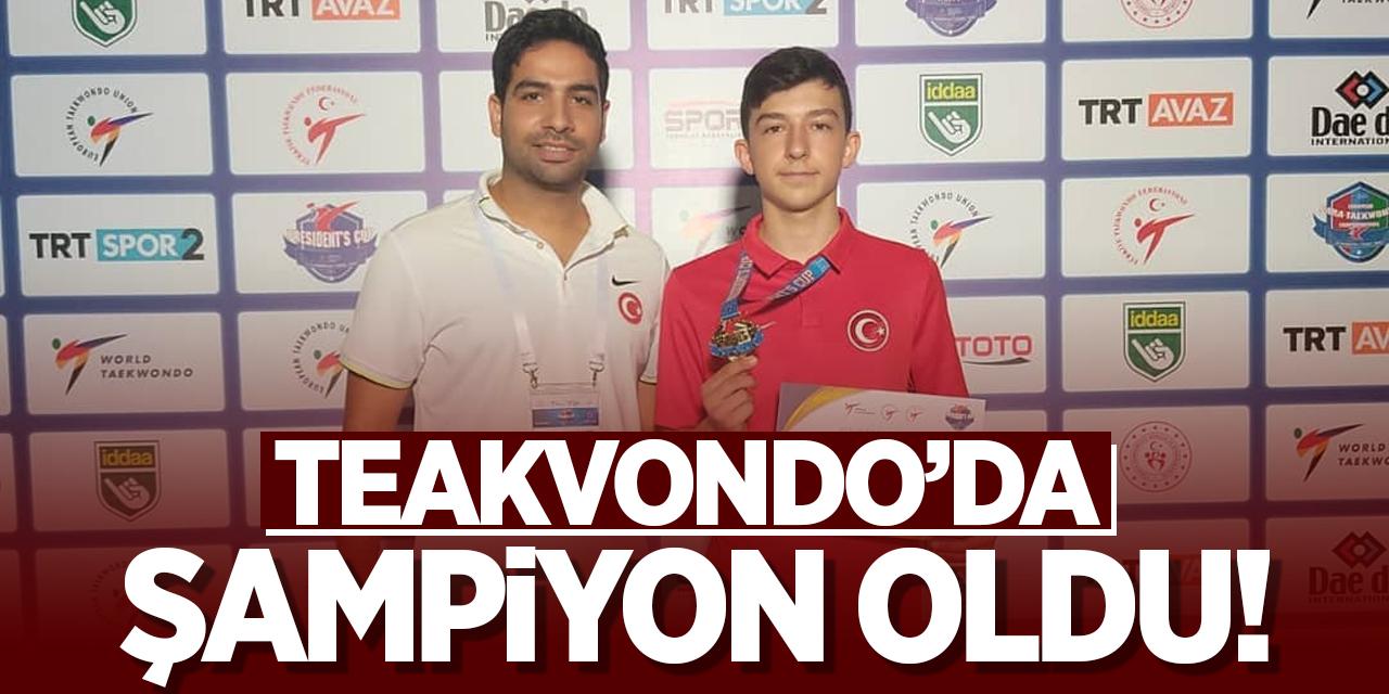 Bozüyüklü Sporcu Teakvondo'da şampiyon oldu!