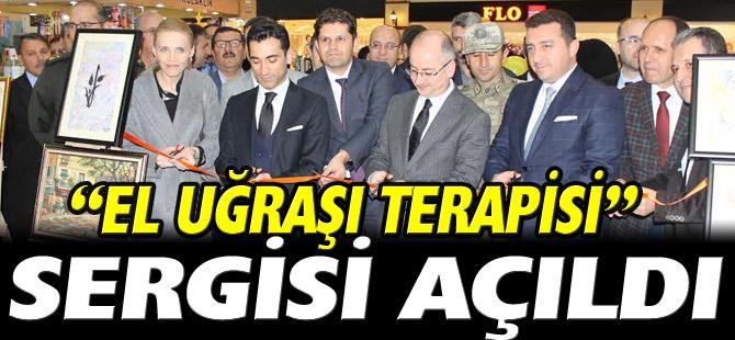 """""""EL UĞRAŞI TERAPİSİ"""" SERGİSİ AÇILDI"""