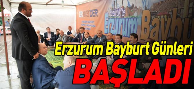 ERZURUM BAYBURT GÜNLERİ BAŞLADI