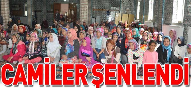 CAMİLER ŞENLENDİ