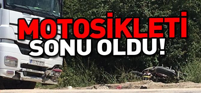 MOTOSİKLETİ SONU OLDU!