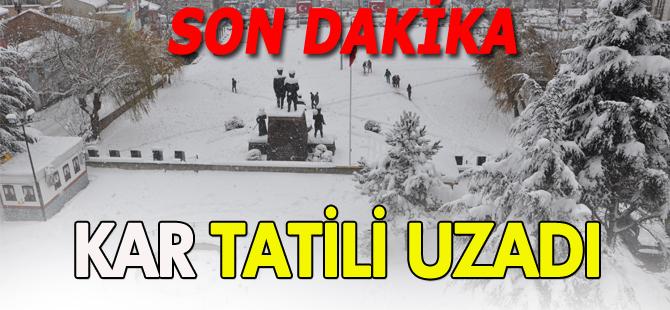 BOZÜYÜK'TE KAR TATİLİ UZADI