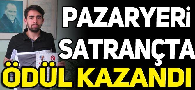 PAZARYERİ  SATRANÇTA  ÖDÜL  KAZANDI