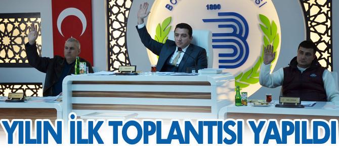 YILIN İLK MECLİS TOPLANTISI YAPILDI