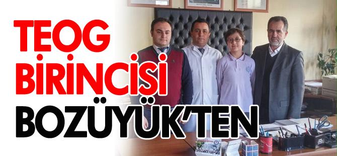 TEOG BİRİNCİSİ BOZÜYÜK'TEN