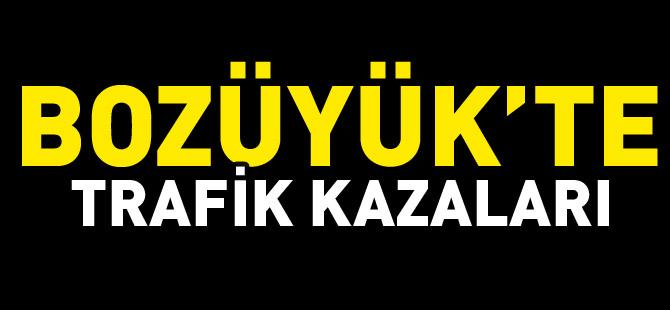 BOZÜYÜK'TE TRAFİK KAZALARI 2 YARALI