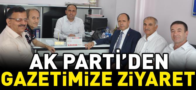 AK PARTİ'DEN GAZETEMİZE ZİYARET