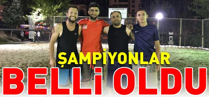 ŞAMPİYONLAR BELLİ OLDU