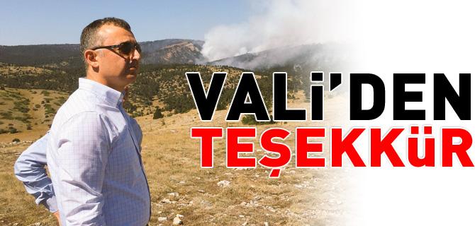 VALİ'DEN TEŞEKKÜR