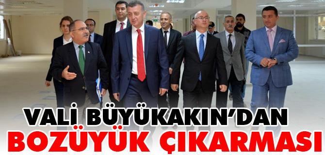 VALİ TAHİR BÜYÜKAKIN'DAN BOZÜYÜK ÇIKARMASI