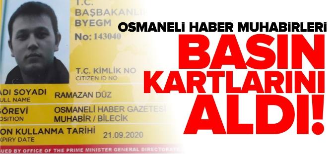 OSMANELİ HABER MUHABİRLERİ, BASIN KARTLARINI ALDI