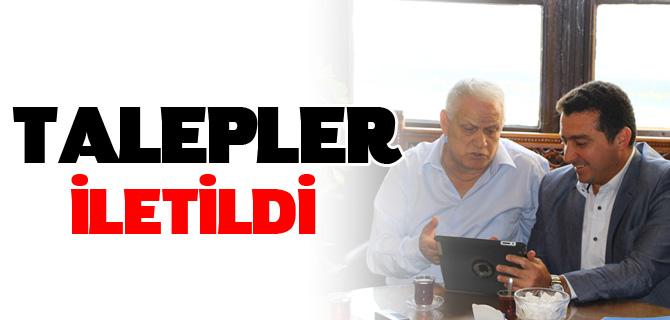 BAŞKAN BAKICI TCDD BÖLGE MÜDÜRÜ NİHAT ASLAN'I ZİYARET ETTİ