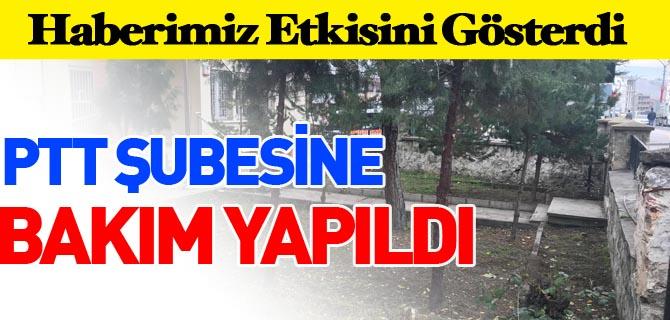 PTT ŞUBESİNE BAKIM YAPILDI