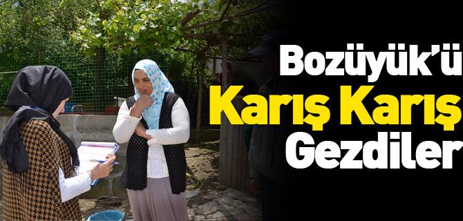 BOZÜYÜK'Ü KARIŞ KARIŞ GEZDİLER