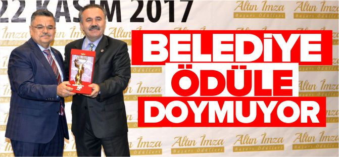 BİLECİK BELEDİYESİ'NE ''ALTIN İMZA BAŞARI ÖDÜLÜ''