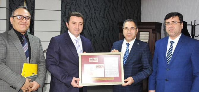 PTT BAŞMÜDÜRÜ BOZKURT BAŞKAN BAKICI'YI ZİYARET ETTİ