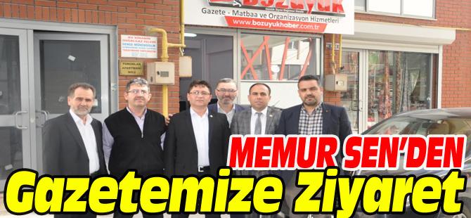 MEMUR SEN'DEN GAZETEMİZE ZİYARET