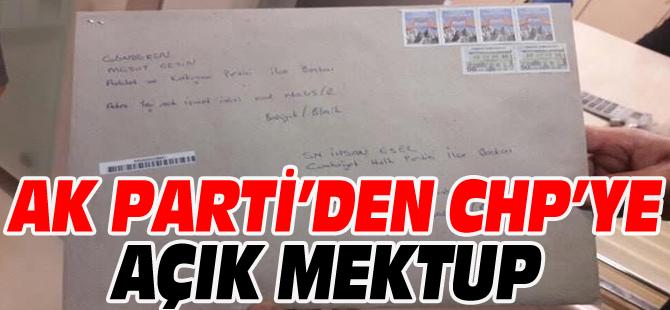 AK PARTİ'DEN CHP'YE AÇIK MEKTUP