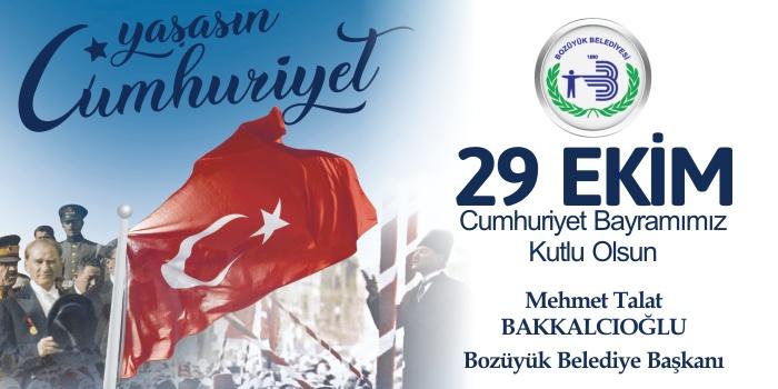 Bozüyük Belediyesi 29 Ekim Cumhuriyet Bayramı Kutlama İlanı