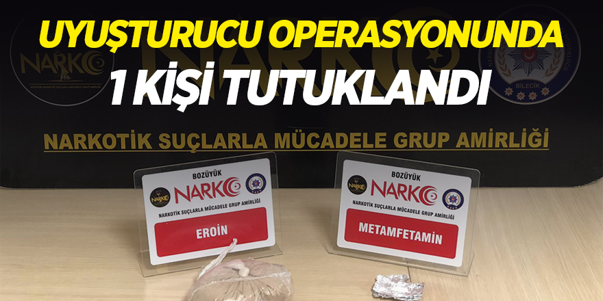 Uyuşturucu Operasyonunda 1 Kişi Tutuklandı