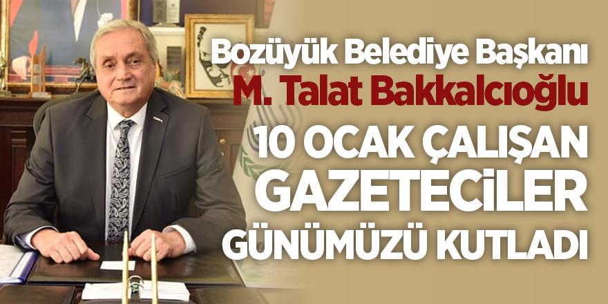 Bozüyük Belediye Başkanı Mehmet Talat Bakkalcıoğlu 10 Ocak Çalışan Gazeteciler Günümüzü Kutladı