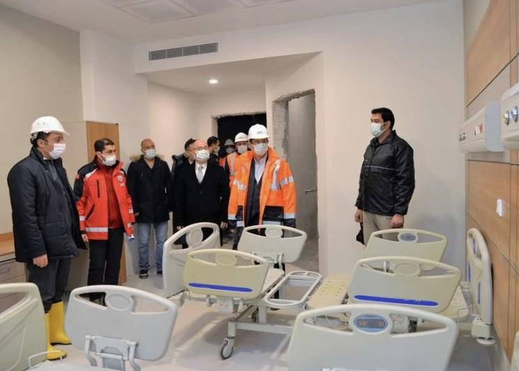 Vali Şentürk; Yeni Hastanede İncelemelerde Bulundu